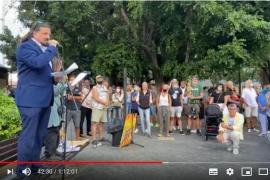 Deutschen-Demonstration auf Mallorca gegen Anti-Corona-Maßnahmen