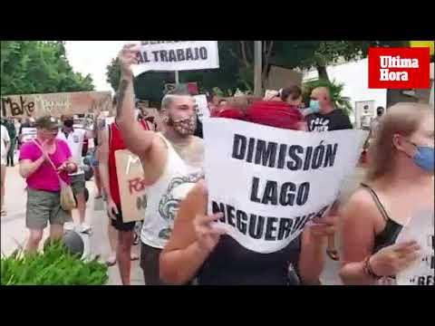 200 Personen demonstrieren in Magaluf für Finanzhilfen