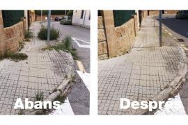 Stadtwerke von Palma de Mallorca machen Unkraut den Garaus
