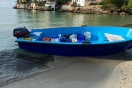 Blick auf eines der Flüchtlingsboote.