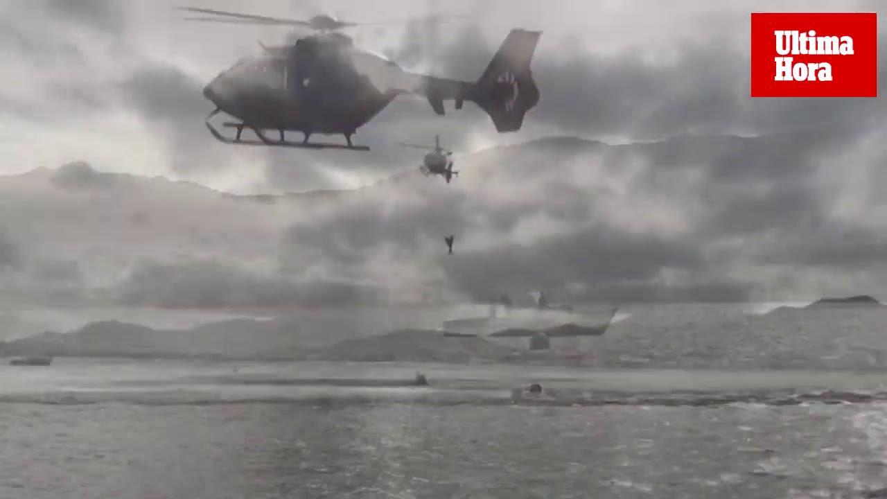 Militärübung mit Helikoptern im Norden von Mallorca
