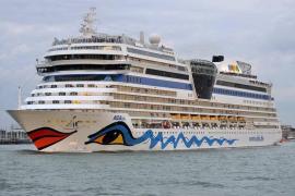 Aida erstmals seit März wieder mit Schiff auf Mittelmeer unterwegs