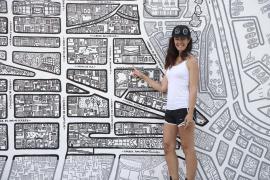 Santa Catalina: Palmas In-Viertel als Wandbild