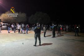 Guardia Civil löst illegale Party in Petra auf