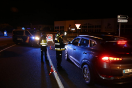 Die Polizei kontrollierte die Zufahrtstraßen nach Manacor.