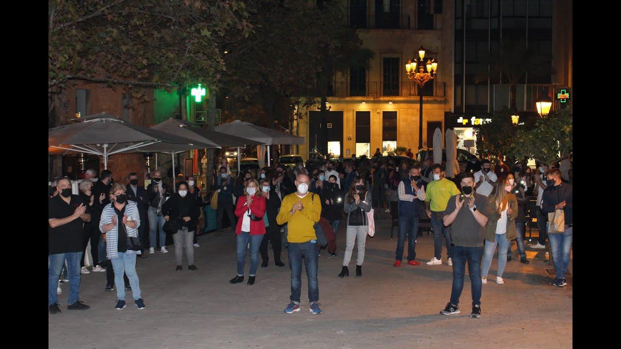 Protest-Kundgebung gegen Lockdown in Mallorcas zweitgrößter Stadt
