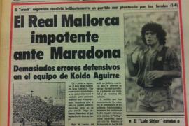 Als Maradona die Zuschauer auf Mallorca verzauberte