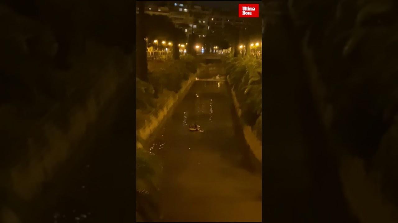 "Nächtliches ""Rafting"" in Palmas Stadtkanal"