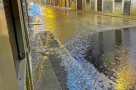 Überschwemmungen nach Straßenarbeiten in Santanyí