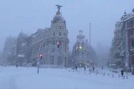 Spanien versinkt im Jahrhundertschnee