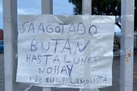 Keine Butangasflaschen in Palma de Mallorca