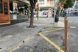 Erweiterte Terrassen auf Mallorca wieder zum Parken benutzbar