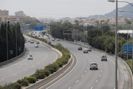 Erste Tempo-80-Schilder auf Ringautobahn in Palma de Mallorca montiert