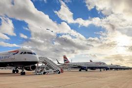 Immer mehr British-Airways-Flugzeuge in Palma de Mallorca geparkt