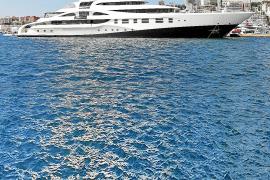 Die 95 Meter lange 'Palladium' war ein häufiger Gast im Club de Mar.