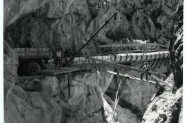 Bau der Wasser-Pipeline nach Palma