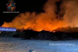 Großbrand bei Müllverbrennungsanlage Son Reus auf Mallorca
