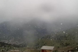 Schneefall auf Mallorca im April
