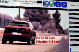 Auto mit 115 statt der erlaubten 40 km/h in Llucmajor geblitzt