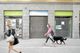 Preisnachlässe von 50 Prozent bei Ladenmieten in Palma