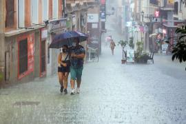 Ungewöhnlich ergiebiger Dauerregen auf Mallorca