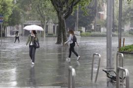 Der meiste Regen fiel am Montag in Palma de Mallorca