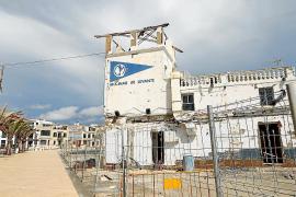 Restaurierungsarbeiten in Molinar-Hafen auf Mallorca