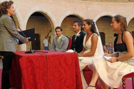 Die standesamtlichen Trauungen in Palma sind um 26,3 Prozent zurückgegangen.