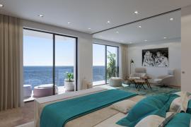 Die Fenster in den Apartments reichen bis zu Boden.