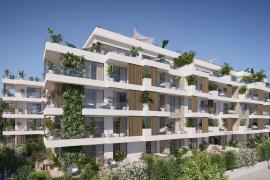 Jedes Apartment des neuen Hippiements-Gebäudes hat großgeschnittene Fensterfronten und eine exklusive Innenausstattung.