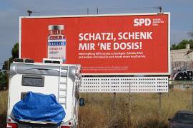 SPD macht vor Wahl in Deutschland großflächig Werbung auf Mallorca