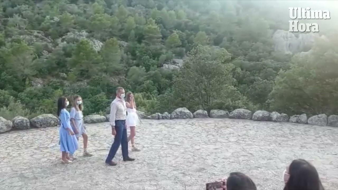Spanische Königsfamilie besucht Klosteranlage Lluc auf Mallorca