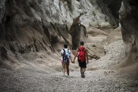 Deutsches Paar aus Schlucht Torrent de Pareis gerettet