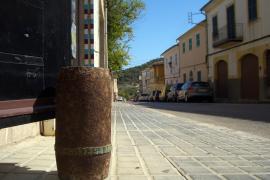 Granatenhülse als Türstopper