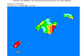 Wetterdienst warnt vor extremer Waldbrandgefahr im Osten von Mallorca