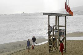 Stadtstrände von Palma bleiben auch am Dienstag geschlossen