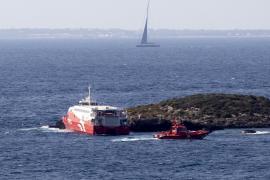 Deutsche Unglücksfähre liegt wieder im Hafen von Ibiza