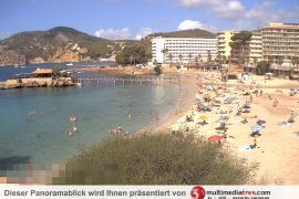 Unwetter spaltet Strand von Camp de Mar in zwei Teile