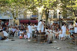 Der traditionelle Wettbewerb im Traubentreten beim Weinfest in Binissalem muss dieses Jahr ausfallen.