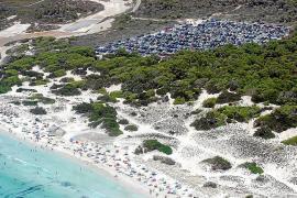 Strand von Es Trenc geht bis zu 26 Meter zurück