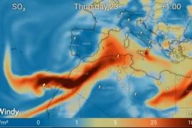Schwefeldioxid-Wolke vom Kanaren-Vulkan nimmt Kurs auch auf Mallorca