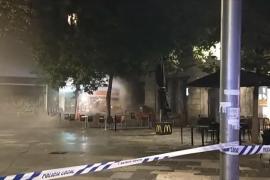 Feuer in Burger-King-Lokal auf Plaça d'Espanya in Palma