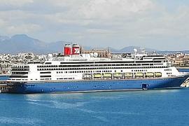 """Erster Besuch des britischen Kreuzfahrtschiffes """"Bolette"""" in Palma"""