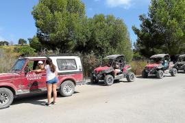 Bußgelder für Quad- oder Jeep-Ausflüge im Nordosten von Mallorca