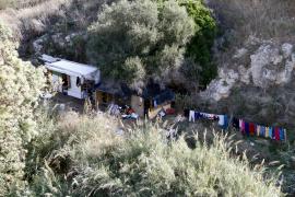 Obdachlose im Sa-Riera-Flussbett