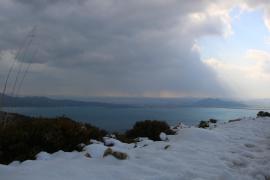 MALLORCA. METEOROLOGIA. LA FOTO DEL LECTOR. Nieve.