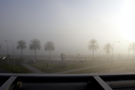Fünf Flüge wurden wegen Nebels gestrichen.