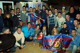 Die Peña von Peguera mit ihrer 200 Euro teuren Vereinsfahne.