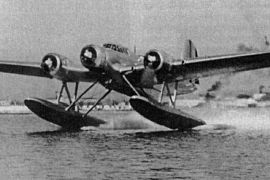 Das Flugzeug, mit dem Ramón Franco ums Leben kam.