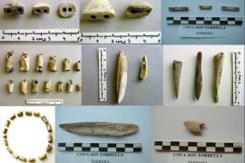 Fundstücke aus der Höhle von Son Torrella bei Escorca.